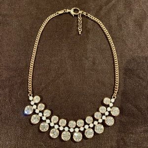 Fossil yellow gold statement necklace